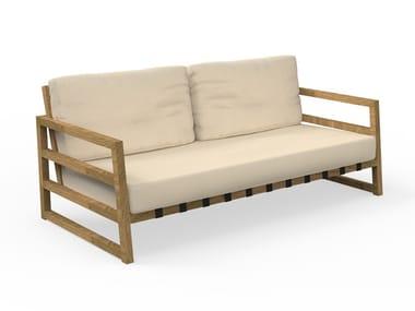 3 seater fabric garden sofa ALABAMA IROKO | Garden sofa