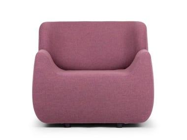 Fabric armchair with armrests ALADDIN   Armchair