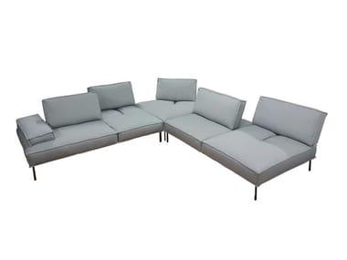 Corner modular leather sofa ALAN | Corner sofa