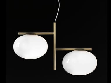 Opal glass pendant lamp ALBA 468