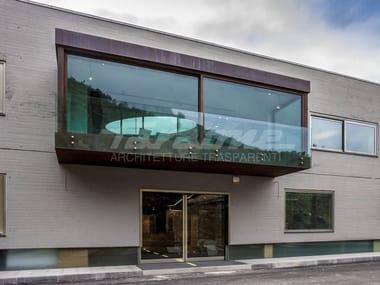 Glass and steel balustrade ALBA R09-A