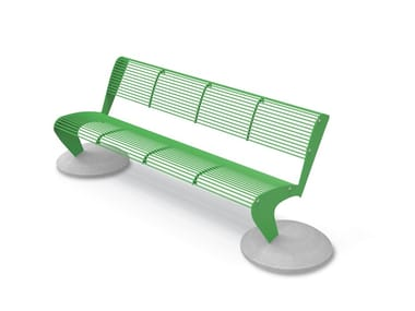 Steel Bench with back ALBATROS | Bench with back