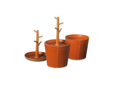 Tanned leather pin tray ALBERO DELLE CHIAVI | Pin tray