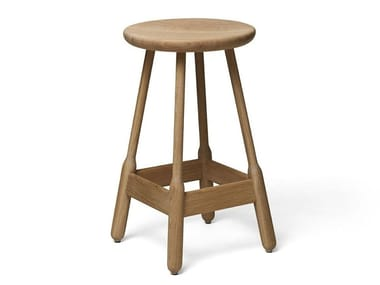 High stool in solid wood ALBERT | Barstool