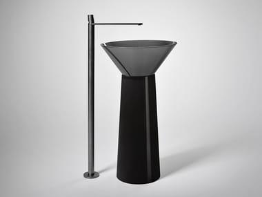 Lavabo freestanding in Cristalmood® ALBUME CONO