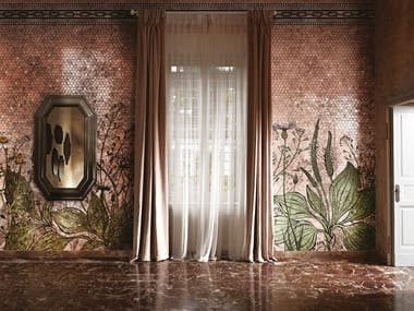 Gold leaf wallpaper with floral pattern ALCHEMICA