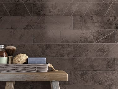 Ceramic wall/floor tiles with metal effect ALCHIMIA