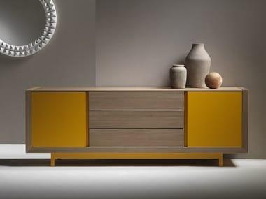 Lacquered wooden sideboard ALCHIMIA bassa