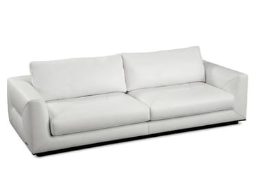 Recliner 3 seater leather sofa ALCHIMIE
