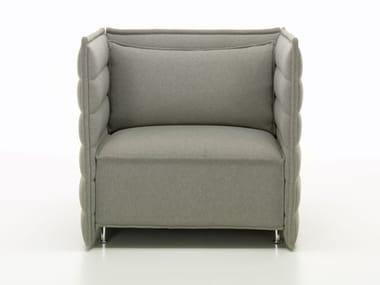 Fabric small sofa ALCOVE PLUME CONTRACT FAUTEUIL