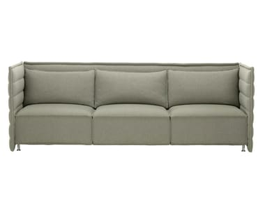 3 seater fabric sofa with removable cover ALCOVE PLUME CONTRACT THREE-SEATER