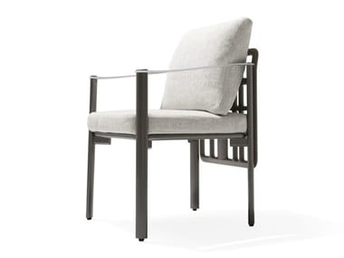 Garden fabric easy chair with armrests ALDÌA | Garden easy chair