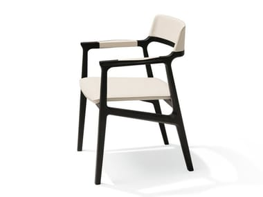 Ash chair with armrests ALEXA | Chair with armrests
