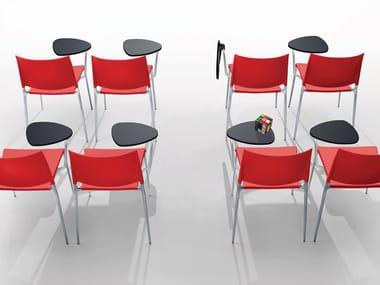 Chaise de conférence avec tablette écritoire ALEXA | Chaise de conférence
