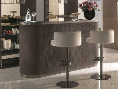 Leather bar cabinet ALEXANDER