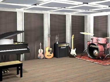 Pannello acustico a parete in fibra di poliestere ALFACUSTIK ONDA MUSIC