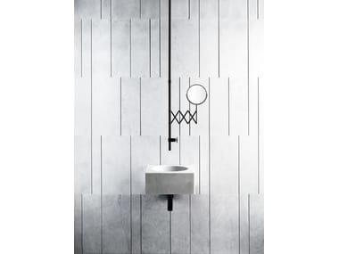 Wall-mounted stone washbasin ALFEO