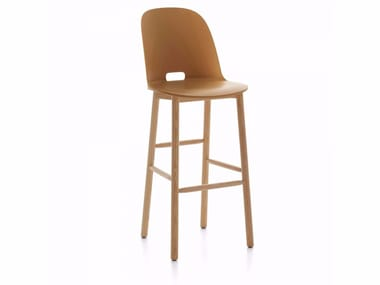 High barstool with back ALFI | Stool with back