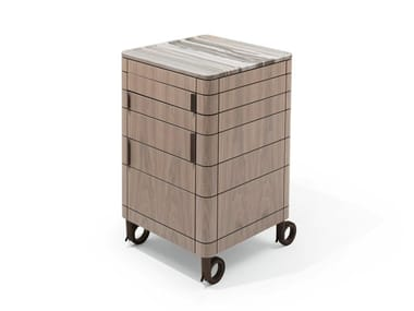 Walnut Kitchen trolley with drawers ALFRED