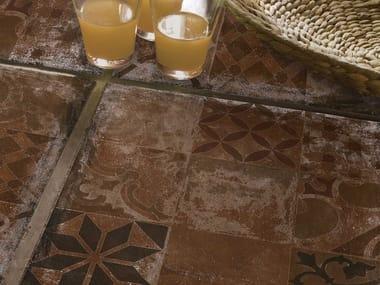 Pavimento de gres porcelánico efecto terracota ALHAMAR ROJO
