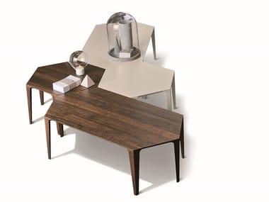 Hexagonal modular oak coffee table ALHAMBRA