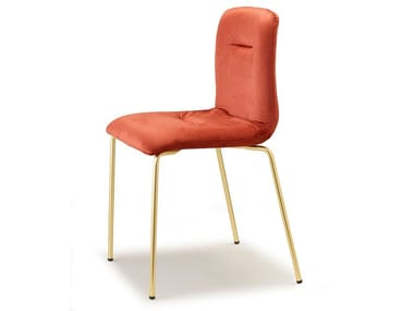 Upholstered fabric chair ALICE POP