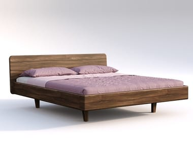 Solid wood double bed ALICIA