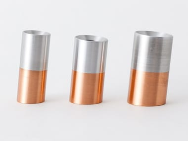 Aluminium and copper pen holder ALIGN LINE | Pen holder