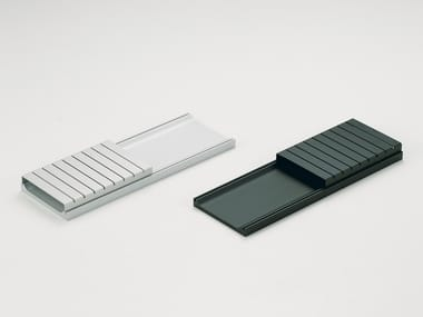 Aluminum business card holder ALIGN LINE | Stationery organizer