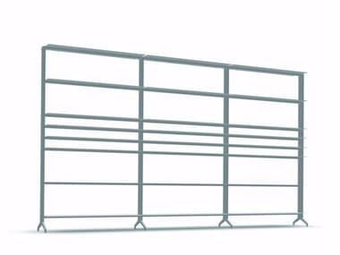Open modular aluminium bookcase ALINE - J02
