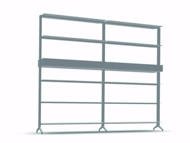 Open modular aluminium bookcase ALINE - J03