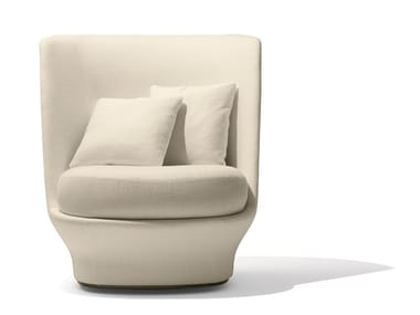 Swivel high-back fabric armchair ALL AROUND | High-back armchair