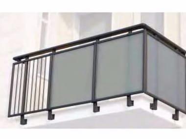 Glass and aluminium Window railing ALL GLASS 40 - ALL MIX 40