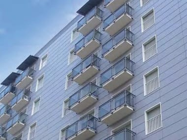 Glass and aluminium Window railing ALL GLASS 60 - ALL MIX 60