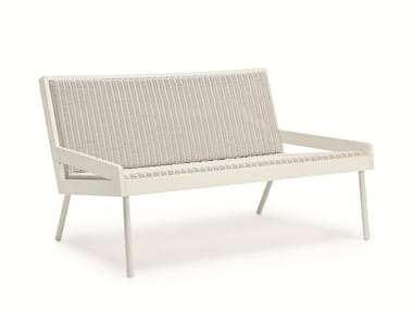 2 seater Ethimo EtWick® garden sofa ALLAPERTO GRAND HOTEL ETWICK | Garden sofa