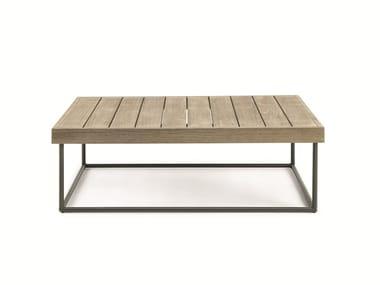Square teak coffee table ALLAPERTO MOUNTAIN ETWICK | Rectangular coffee table