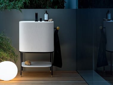 Floor-standing Tecnoblu vanity unit with towel rail ALLEGRO