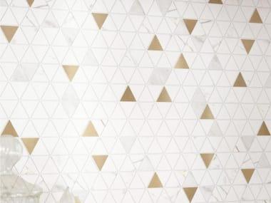 Mosaico in ceramica ALLMARBLE WALL   Mosaico Tria. Gd. White