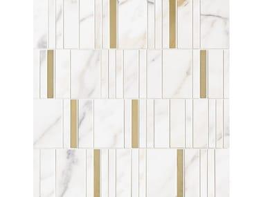 Mosaico in ceramica ALLMARBLE WALL | Mosaico B.Cd. Gd. White