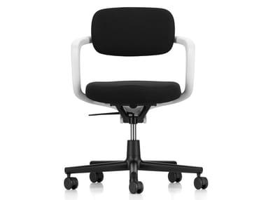Sedia ufficio ad altezza regolabile in tessuto con braccioli ALLSTAR