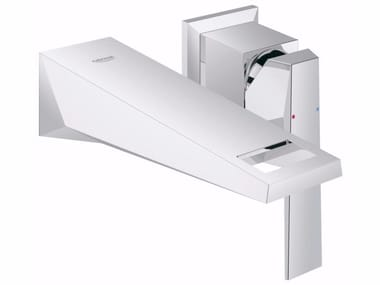 Wall-mounted single handle washbasin mixer ALLURE BRILLIANT SIZE S | 2 hole washbasin mixer