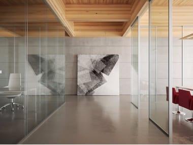 Glass and aluminium movable wall ALLinONE SLIM