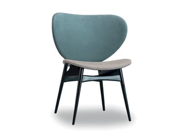 Upholstered leather chair ALMA