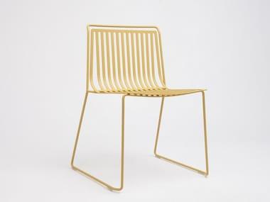 Sled base stackable steel garden chair ALO OUTDOOR