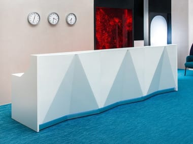 Office reception desk with Built-In Lights ALPA