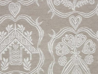 Jacquard fabric with graphic pattern ALPAGE STEMMI