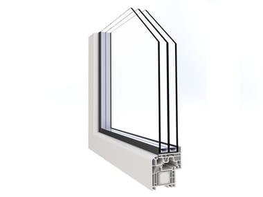 Finestra a battente a taglio termico in PVC con triplo vetro ALPHA LUCE