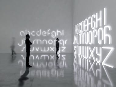 Lettera luminosa a LED da parete ALPHABET OF LIGHT