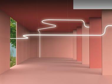 LED direct light polycarbonate pendant lamp ALPHABET OF LIGHT SYSTEM