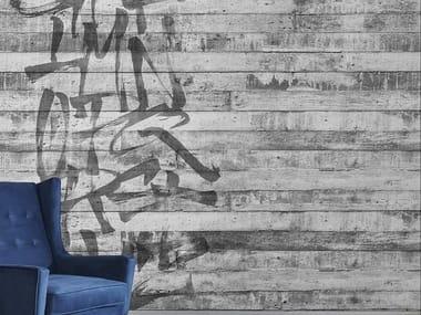 Papel de parede com escrita ALPHABET WALL